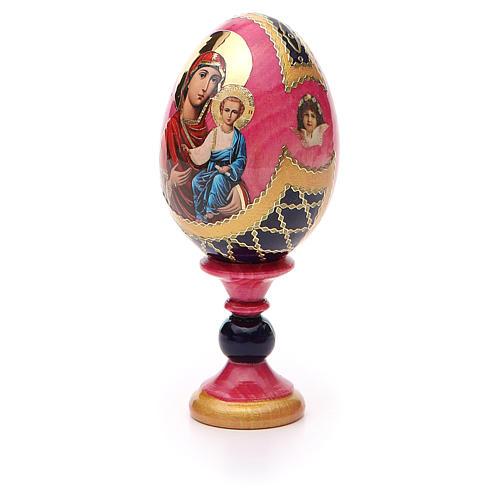Huevo icono découpage Rusa Smolenskaya  h tot 13 estilo Fabergé 6