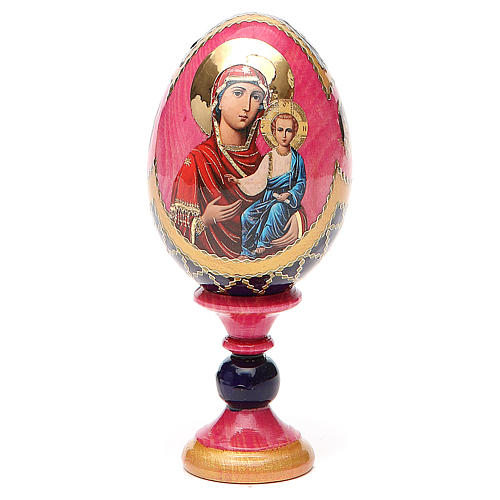 Huevo icono découpage Rusa Smolenskaya  h tot 13 estilo Fabergé 1