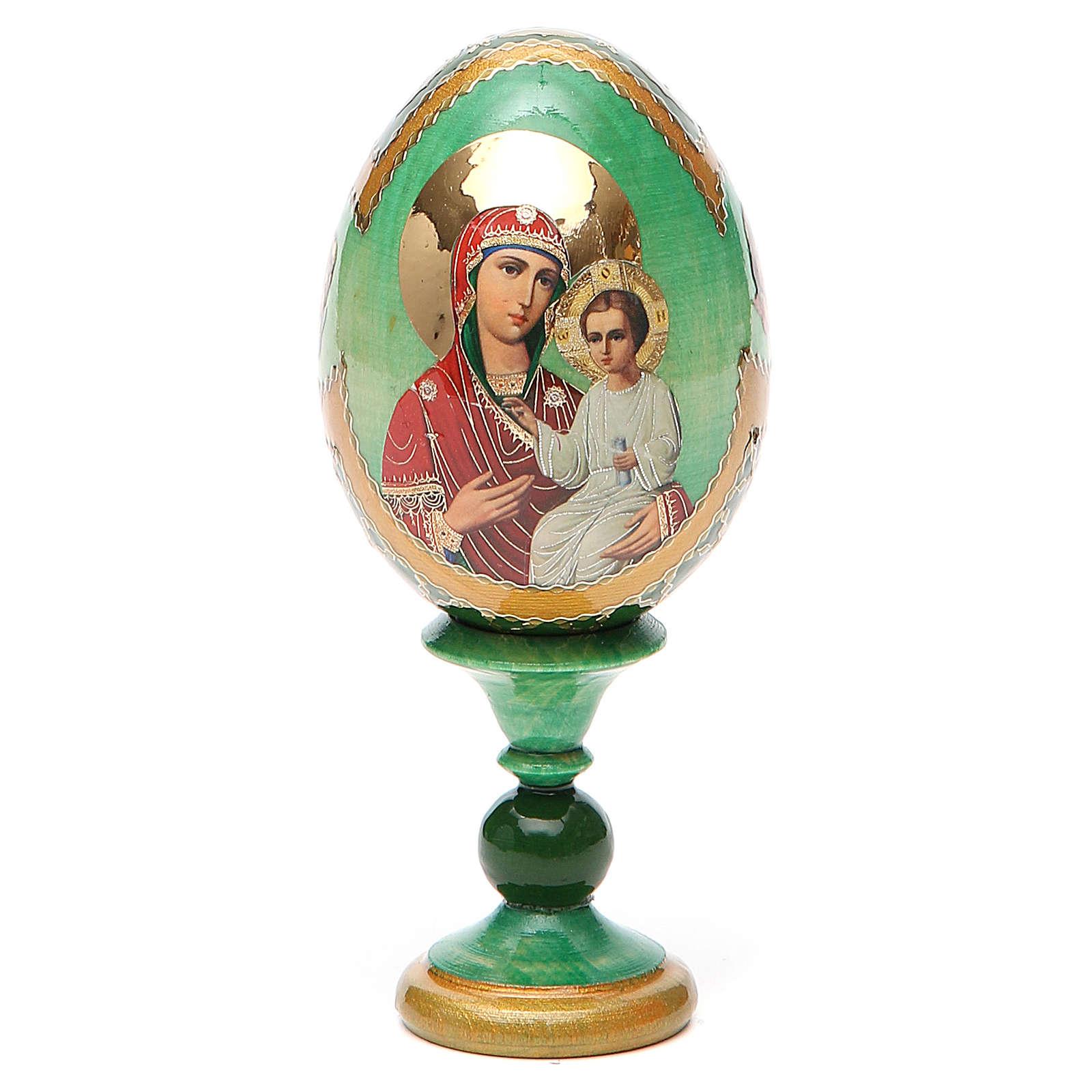 Uovo russo decoupage Smolenskaya h tot. 13 cm stile Fabergé 4