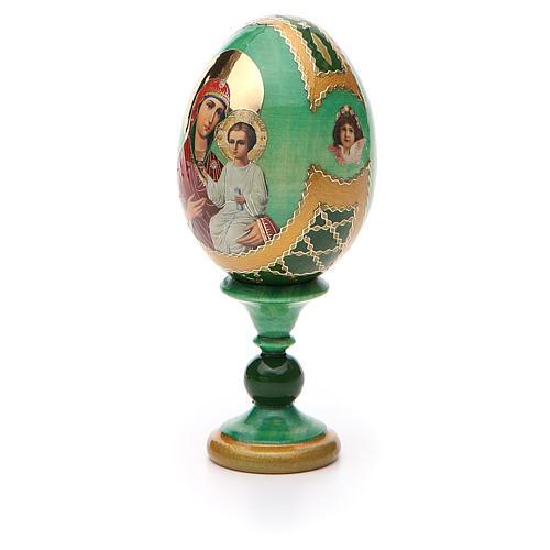 Uovo russo decoupage Smolenskaya h tot. 13 cm stile Fabergé 6