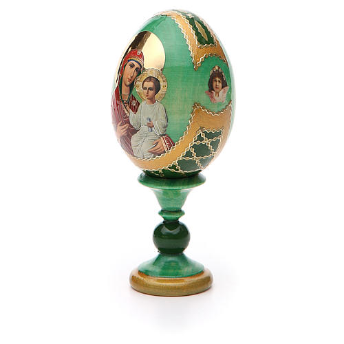 Russian Egg Smolenskaya Fabergè, green background 13cm 6