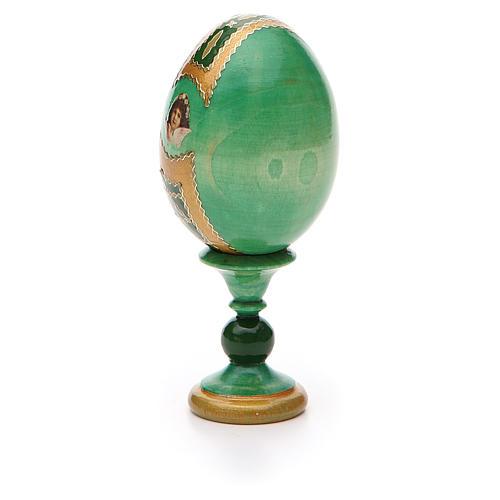 Russian Egg Smolenskaya Fabergè, green background 13cm 7
