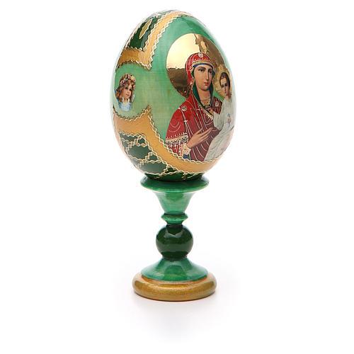 Russian Egg Smolenskaya Fabergè, green background 13cm 8