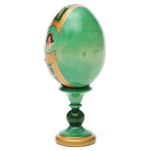 Russian Egg Smolenskaya Fabergè, green background 13cm 11