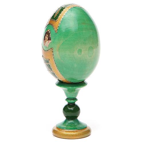 Russian Egg Smolenskaya Fabergè, green background 13cm 3
