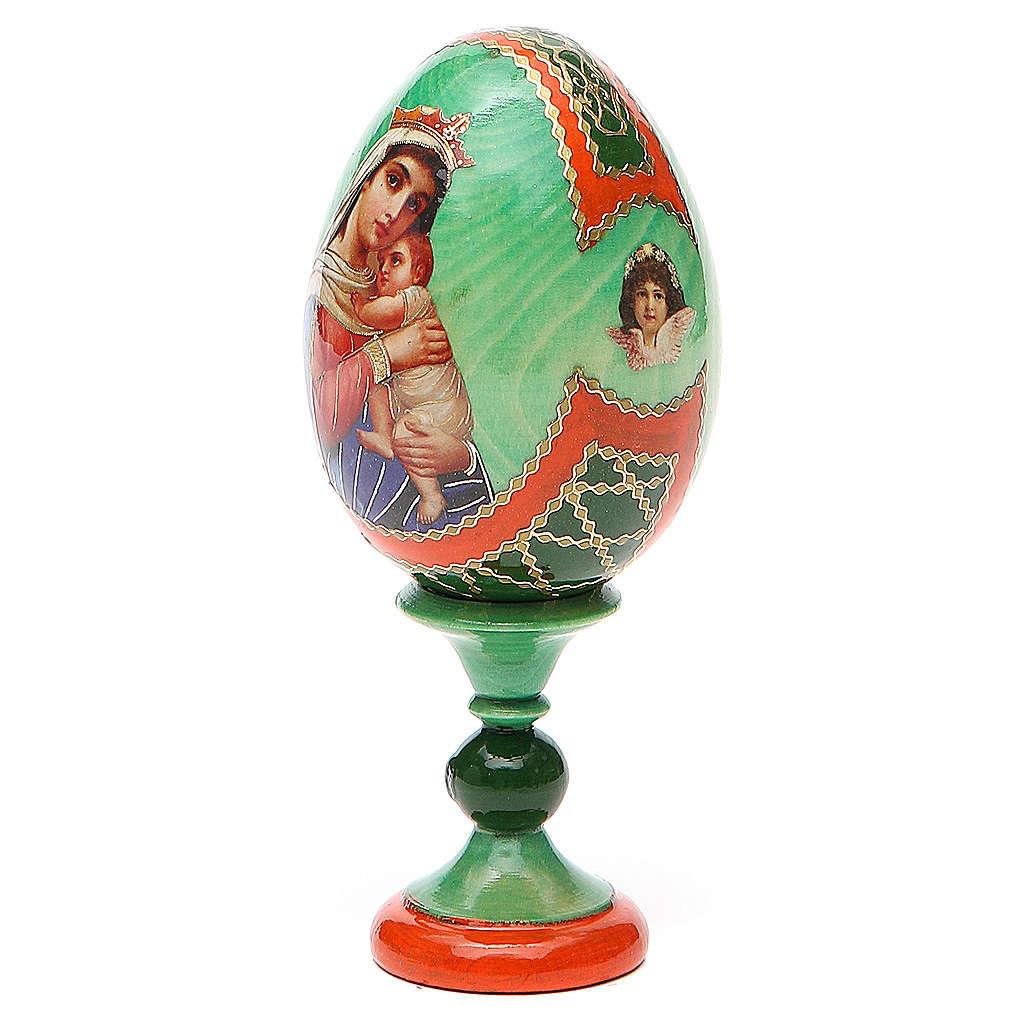 Uovo icona decoupage Russia Speranza ai disperati h tot. 13 cm stile Fabergé 4