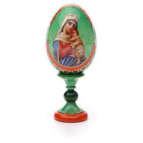 Uovo icona decoupage Russia Speranza ai disperati h tot. 13 cm stile Fabergé s5
