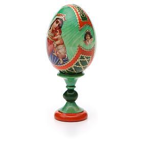 Uovo icona decoupage Russia Speranza ai disperati h tot. 13 cm stile Fabergé s6