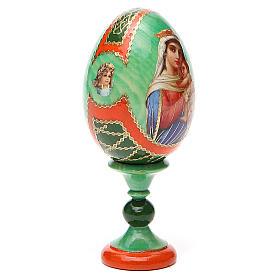 Uovo icona decoupage Russia Speranza ai disperati h tot. 13 cm stile Fabergé s12
