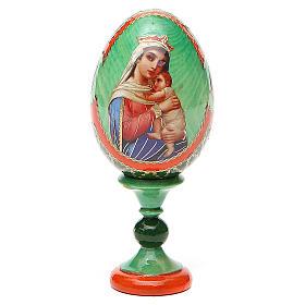 Uovo icona decoupage Russia Speranza ai disperati h tot. 13 cm stile Fabergé s1