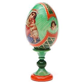 Uovo icona decoupage Russia Speranza ai disperati h tot. 13 cm stile Fabergé s2