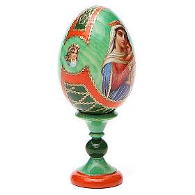 Uovo icona decoupage Russia Speranza ai disperati h tot. 13 cm stile Fabergé s4