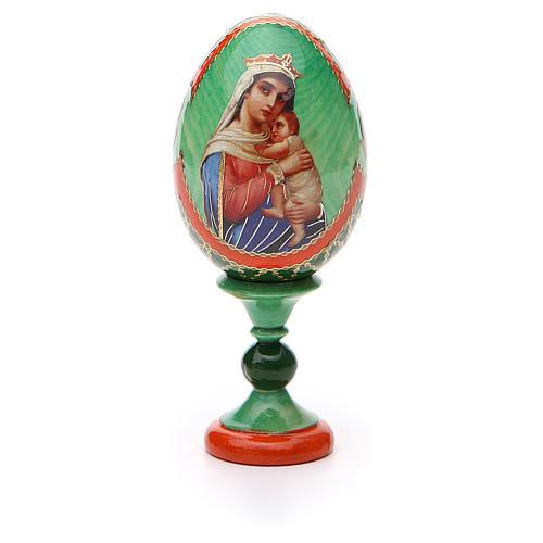 Uovo icona decoupage Russia Speranza ai disperati h tot. 13 cm stile Fabergé 5