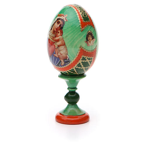 Uovo icona decoupage Russia Speranza ai disperati h tot. 13 cm stile Fabergé 6