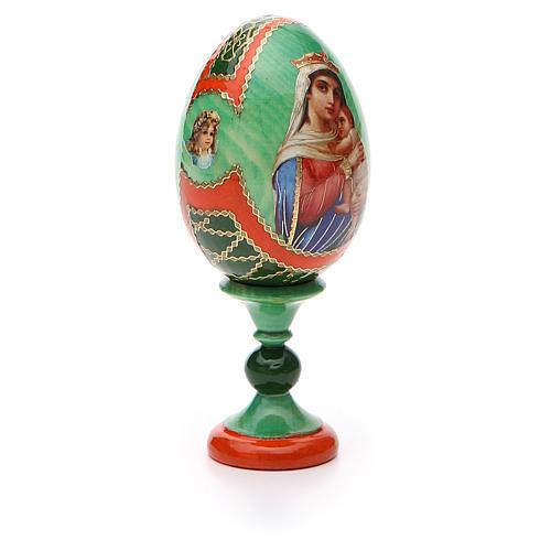 Uovo icona decoupage Russia Speranza ai disperati h tot. 13 cm stile Fabergé 8
