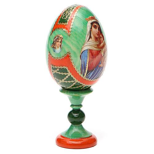 Uovo icona decoupage Russia Speranza ai disperati h tot. 13 cm stile Fabergé 12