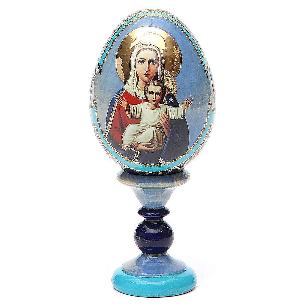Uovo icona decoupage Russia Sono con te e nessuno contro h tot. 13 cm 4