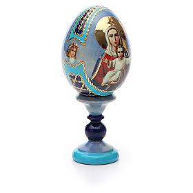 Uovo icona decoupage Russia Sono con te e nessuno contro h tot. 13 cm s8