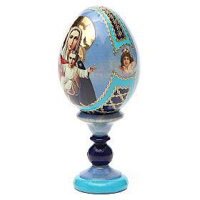 Uovo icona decoupage Russia Sono con te e nessuno contro h tot. 13 cm s2