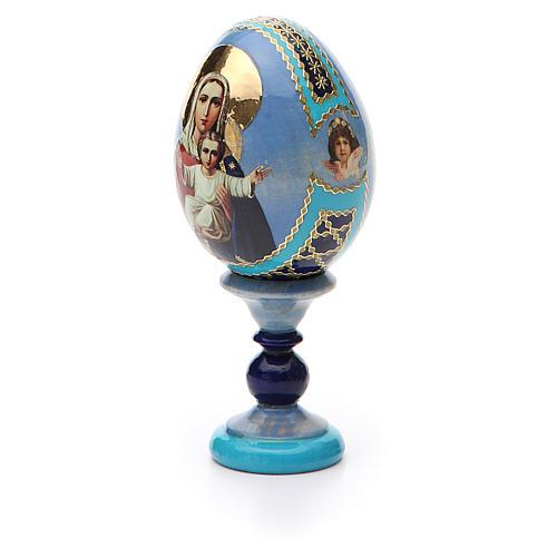 Uovo icona decoupage Russia Sono con te e nessuno contro h tot. 13 cm 6