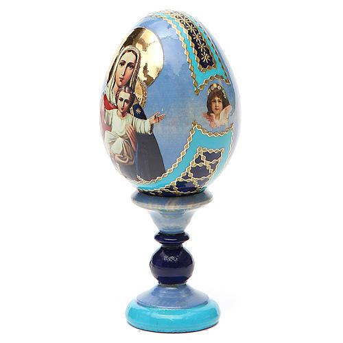 Uovo icona decoupage Russia Sono con te e nessuno contro h tot. 13 cm 10