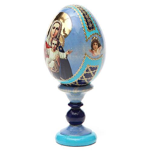 Uovo icona decoupage Russia Sono con te e nessuno contro h tot. 13 cm 2