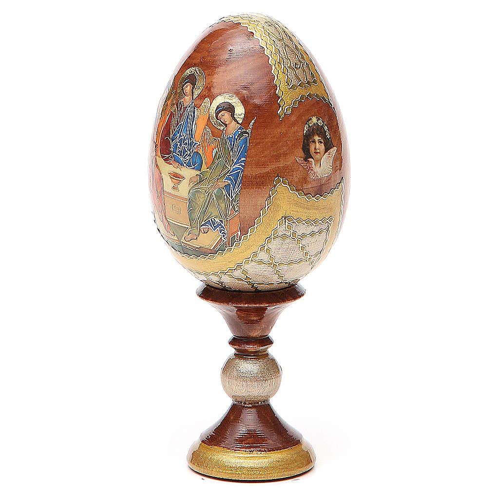 Oeuf peint Russie Trinité Roublev h 13 cm 4