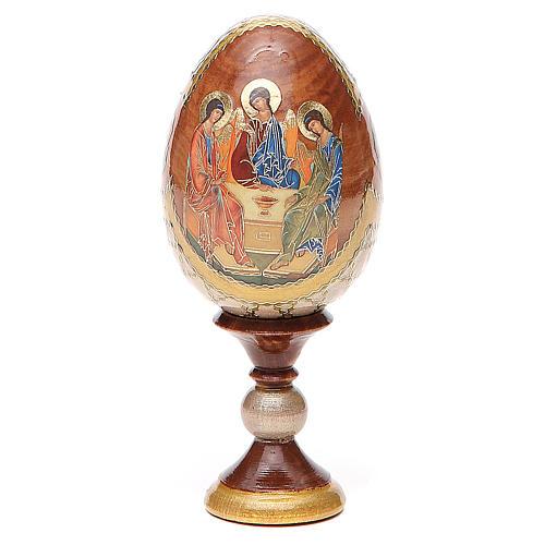 Oeuf peint Russie Trinité Roublev h 13 cm 1