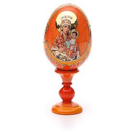 Uovo icona russa découpage Autodisegnata h tot. 13 cm stile Fabergé s5