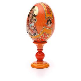 Uovo icona russa découpage Autodisegnata h tot. 13 cm stile Fabergé s6