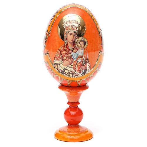 Uovo icona russa découpage Autodisegnata h tot. 13 cm stile Fabergé 9