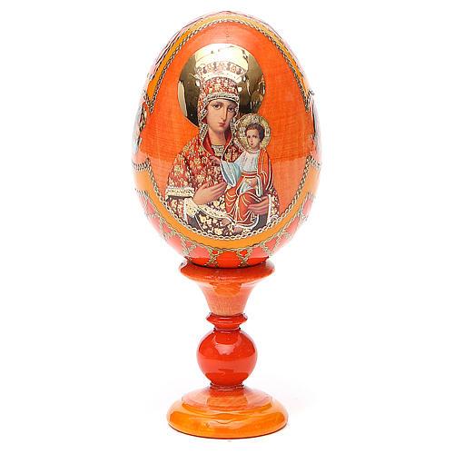 Uovo icona russa découpage Autodisegnata h tot. 13 cm stile Fabergé 1