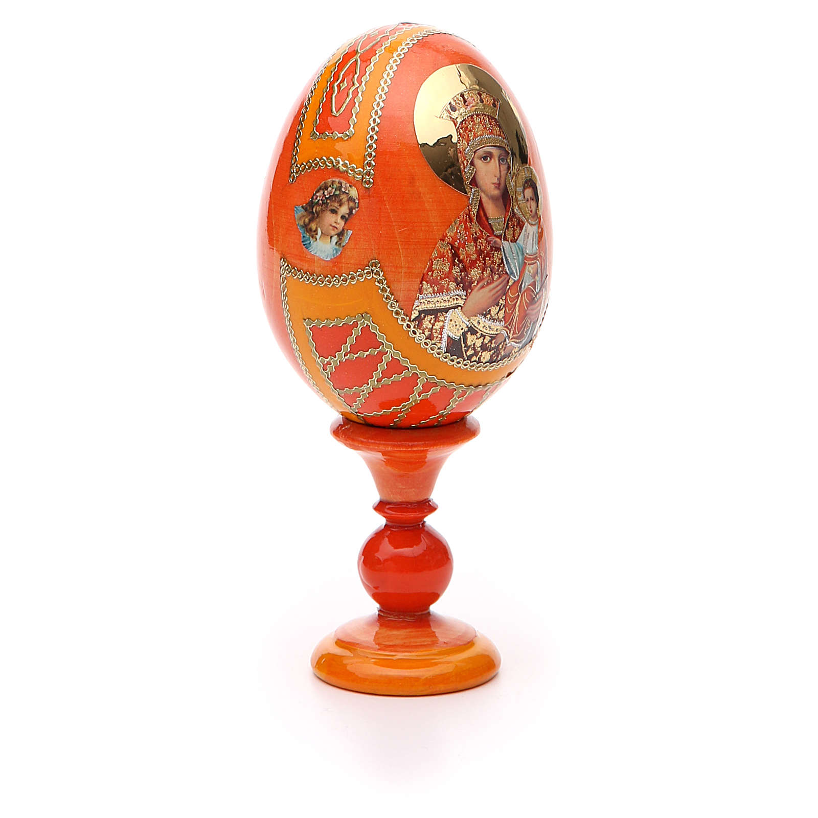 Russian Egg Self-drawn Madonna Fabergè style 13cm 4