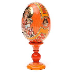 Russian Egg Self-drawn Madonna Fabergè style 13cm s10