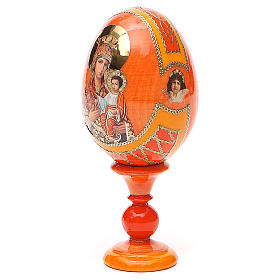 Russian Egg Self-drawn Madonna Fabergè style 13cm s2