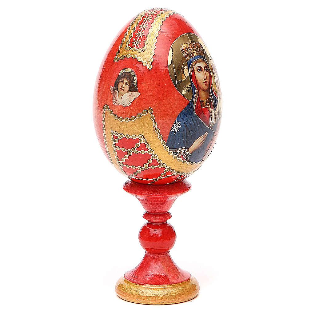 Uovo icona russa découpage Ozeranskaya h tot. 13 cm stile Fabergé 4