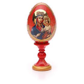 Uovo icona russa découpage Ozeranskaya h tot. 13 cm stile Fabergé s5