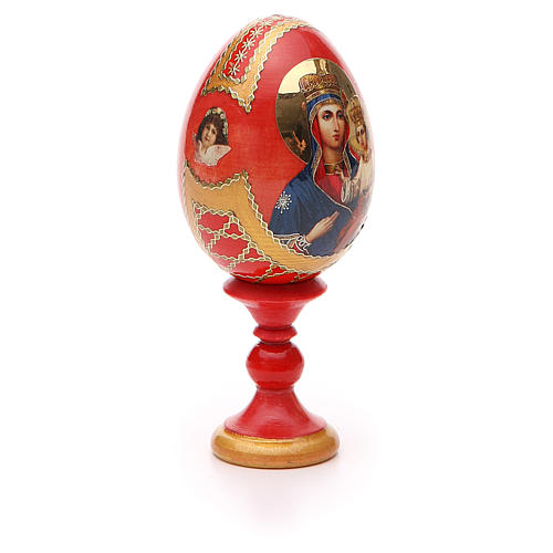Uovo icona russa découpage Ozeranskaya h tot. 13 cm stile Fabergé 8