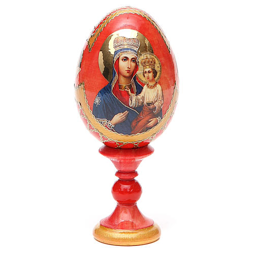 Uovo icona russa découpage Ozeranskaya h tot. 13 cm stile Fabergé 9