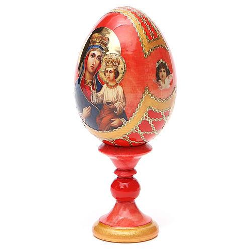 Uovo icona russa découpage Ozeranskaya h tot. 13 cm stile Fabergé 10