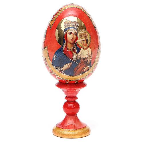 Uovo icona russa découpage Ozeranskaya h tot. 13 cm stile Fabergé 1