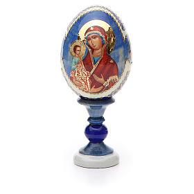 Huevo ruso de madera découpage Tres Manos altura total 13 cm estilo Fabergé s5