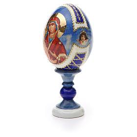 Huevo ruso de madera découpage Tres Manos altura total 13 cm estilo Fabergé s6