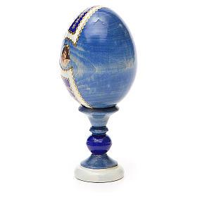 Huevo ruso de madera découpage Tres Manos altura total 13 cm estilo Fabergé s11