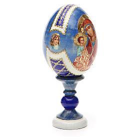 Huevo ruso de madera découpage Tres Manos altura total 13 cm estilo Fabergé s12