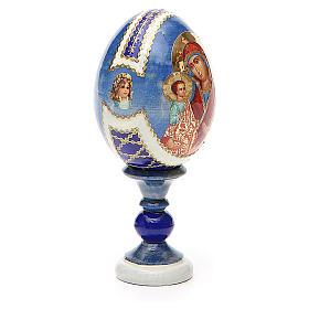 Huevo ruso de madera découpage Tres Manos altura total 13 cm estilo Fabergé s4