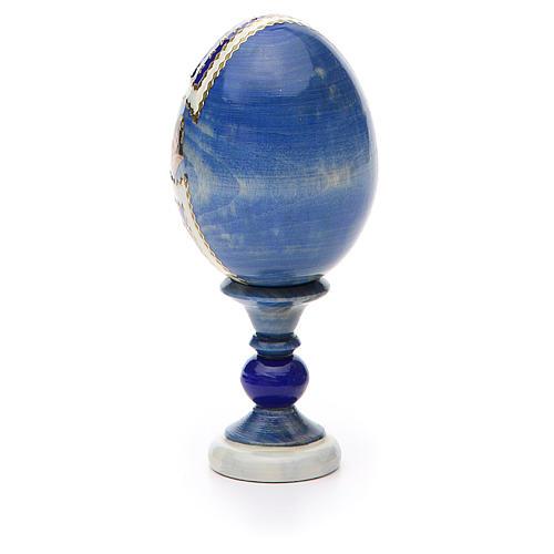 Huevo ruso de madera découpage Tres Manos altura total 13 cm estilo Fabergé 7