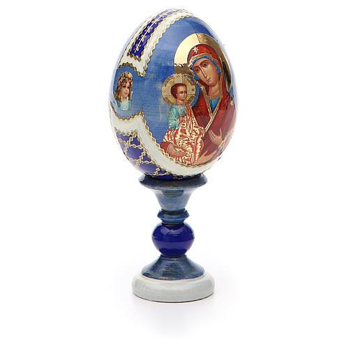 Huevo ruso de madera découpage Tres Manos altura total 13 cm estilo Fabergé 8