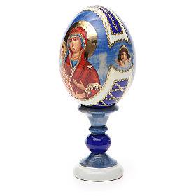Uovo icona russa découpage Tre Mani h tot. 13 cm stile Fabergé s2