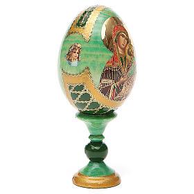 Huevo ruso de madera découpage Virgen de la Pasión altura total 13 cm estilo Fabergé s4